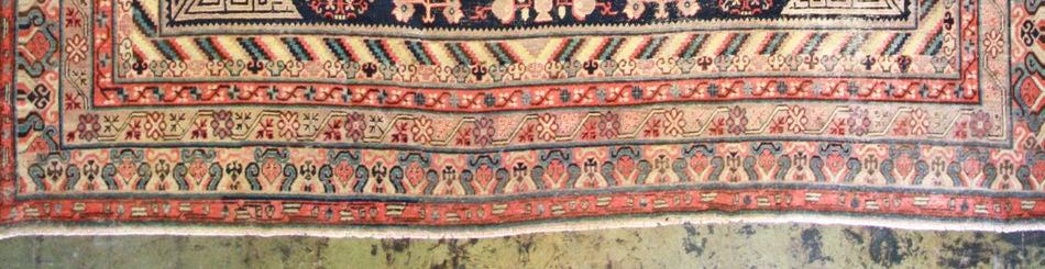 Hand-Knotted Antique Khotan Rug For Sale