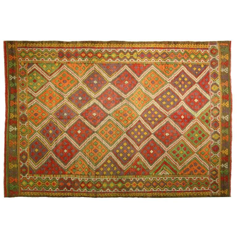 Vintage Turkish Sumak Kilim For Sale At 1stdibs