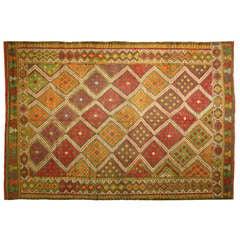 Vintage Turkish Sumak Kilim