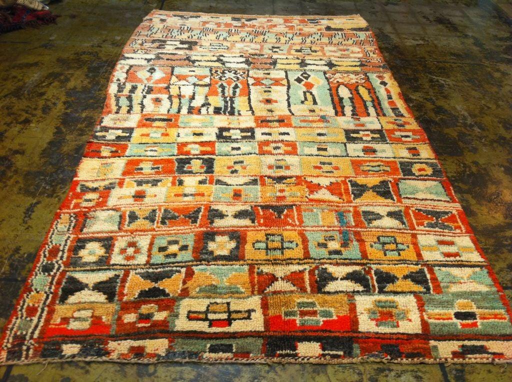 colorful vintage moroccan rug for sale at 1stdibs