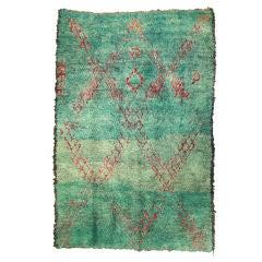 Vintage Green Moroccan Rug
