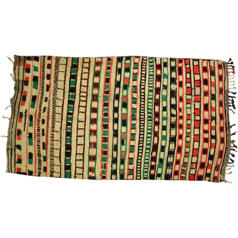 Vintage Moroccan Rug 1