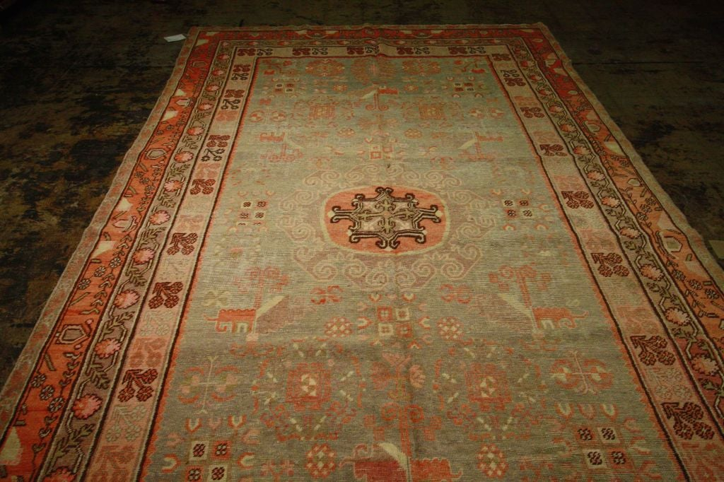 Antique Samarkand Rug #2282 6'6 x 12'9 image 2