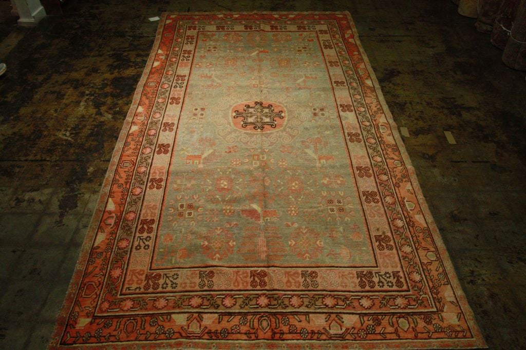 Antique Samarkand Rug #2282 6'6 x 12'9 image 10