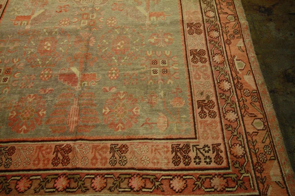 Antique Samarkand Rug #2282 6'6 x 12'9 image 4