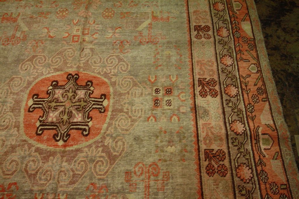 Antique Samarkand Rug #2282 6'6 x 12'9 image 5