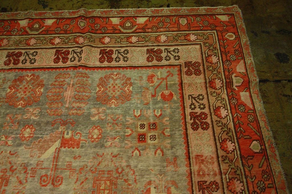 Antique Samarkand Rug #2282 6'6 x 12'9 image 6