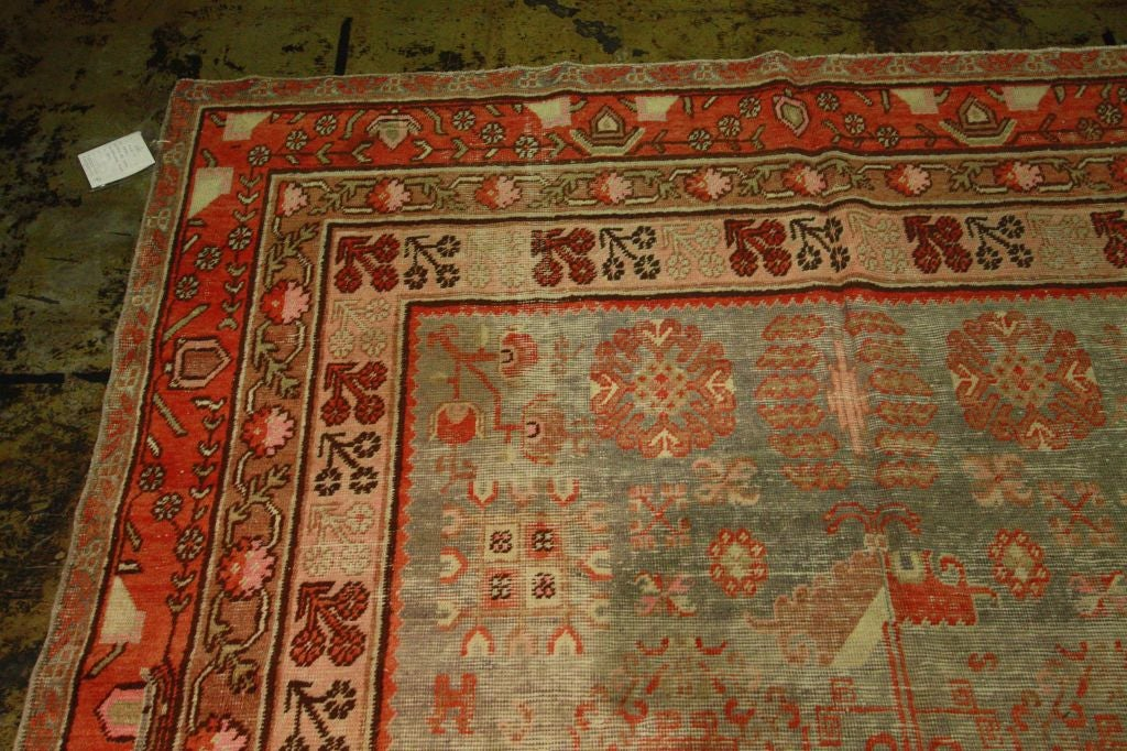 Antique Samarkand Rug #2282 6'6 x 12'9 image 7
