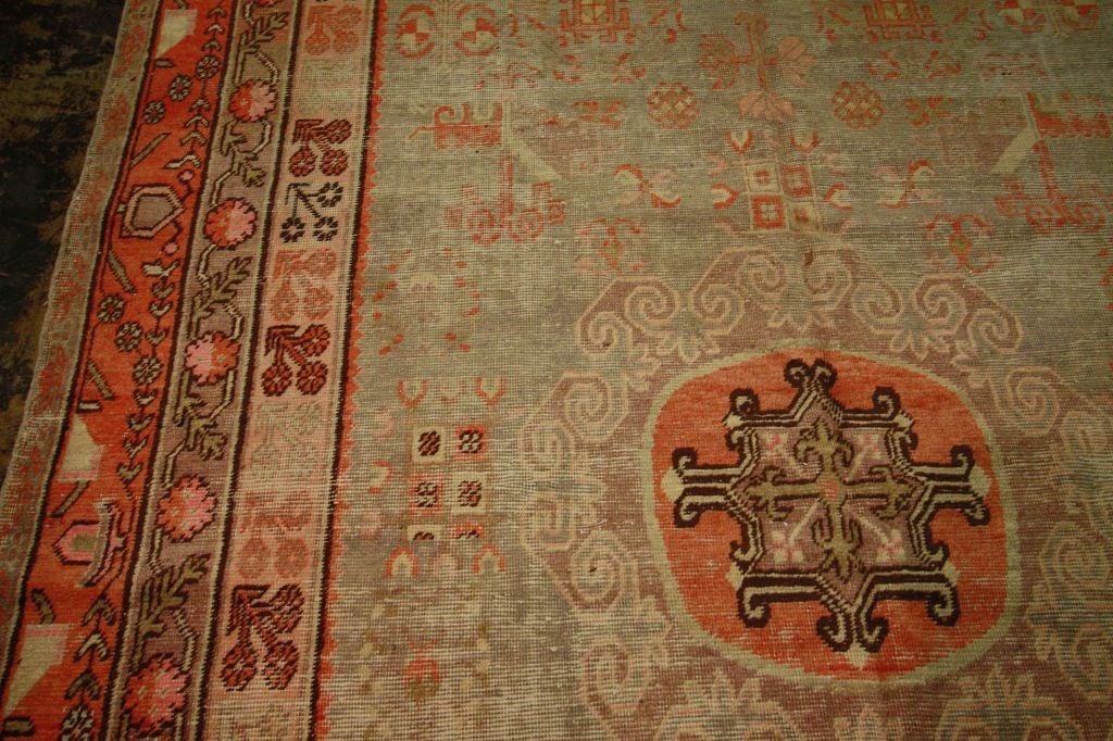 Antique Samarkand Rug #2282 6'6 x 12'9 image 8