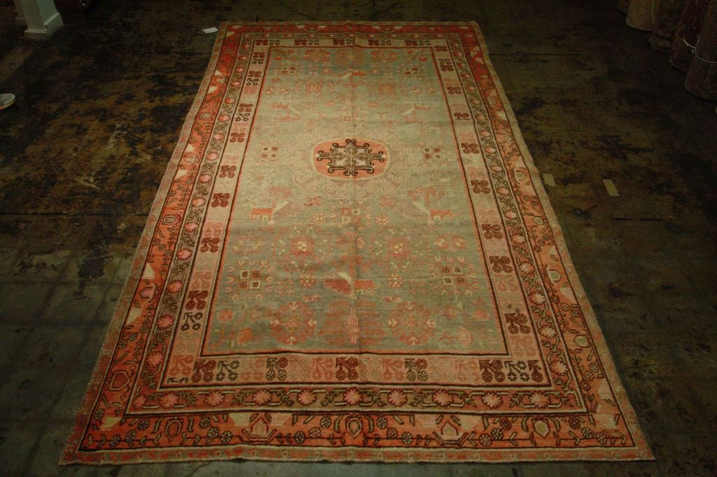 Antique Samarkand Rug #2282 6'6 x 12'9 image 9