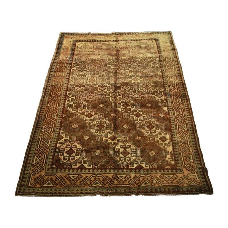 Vintage Afghan Rug 8850 5 X 7'6 For Sale At 1stdibs