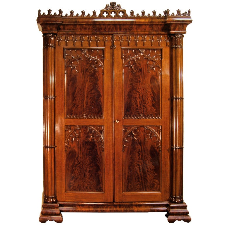 Gothic Armoire For At 1stdibs