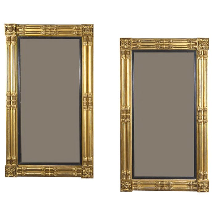 Pair of American Neo-Classical Pier Mirrors