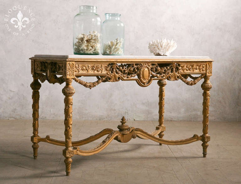 Gorgeous antique french entry table at stdibs