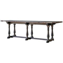 Antique Carved Mahogany Draper's Table, France, circa 1890