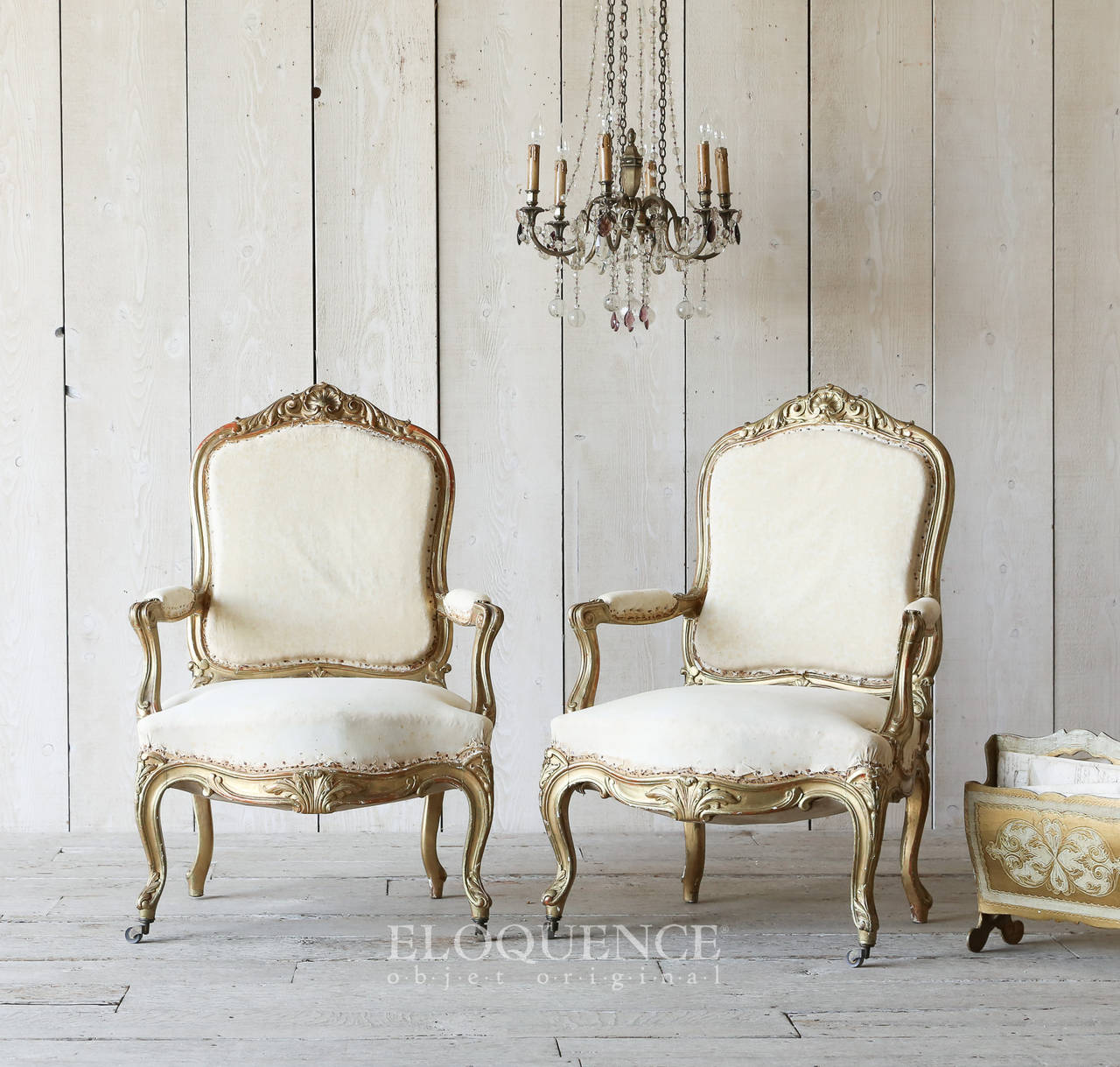 Antique French Armchairs, circa 1880 at 1stdibs