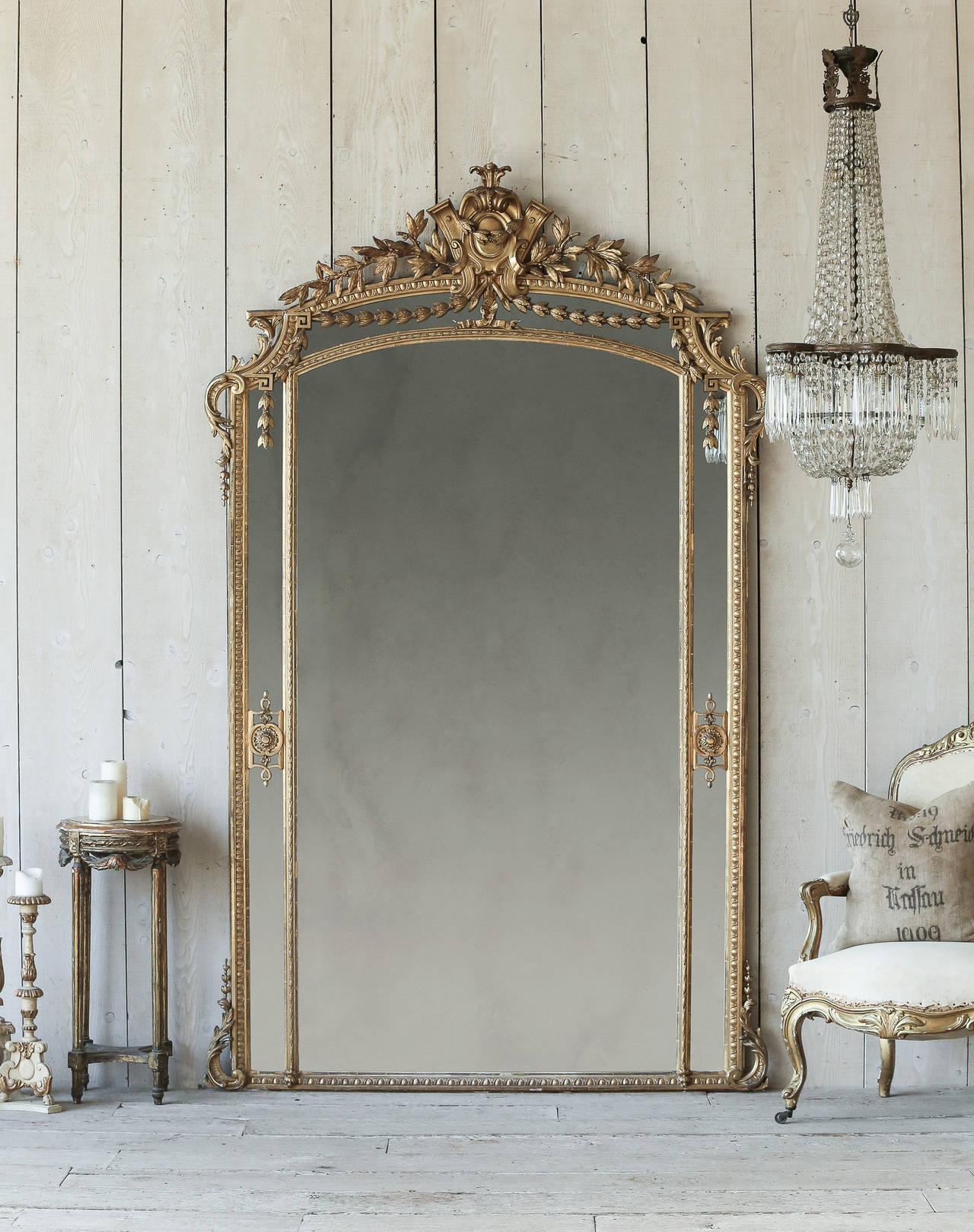 Antique french pareclose ballroom mirror circa 1880 at for Antique french mirror