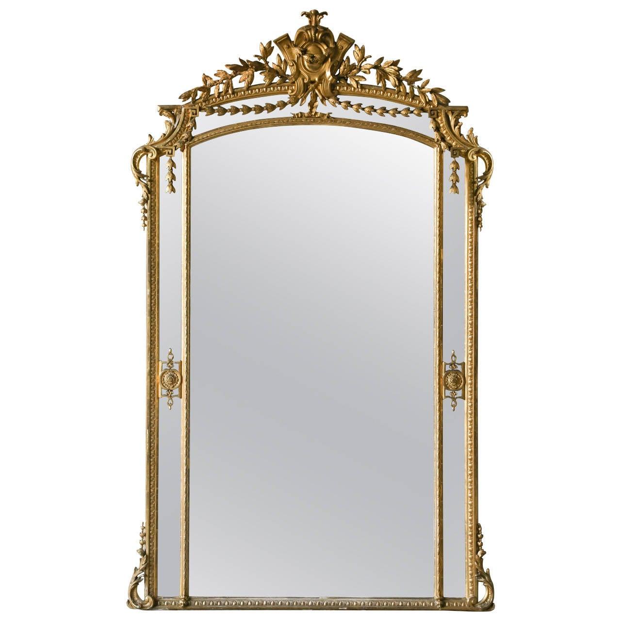 Arched gilt mirror at 1stdibs - Antique French Pareclose Ballroom Mirror Circa 1880 1