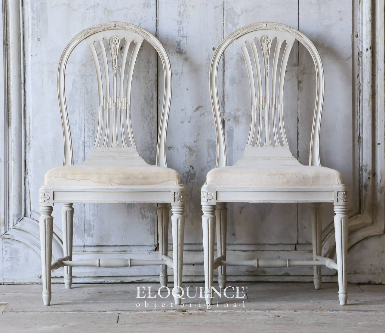 Set of 8 Vintage Gustavian Dining Chairs, circa 1920 3