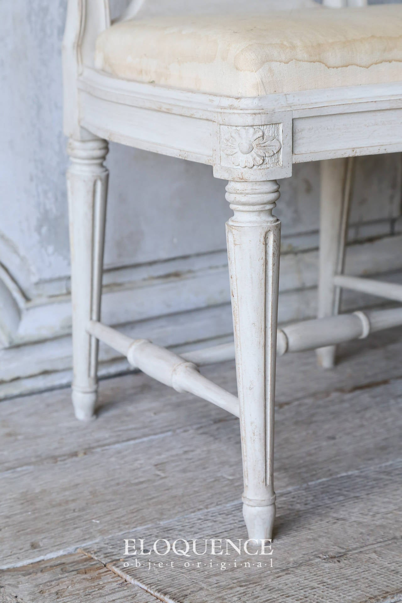 Set of 8 Vintage Gustavian Dining Chairs, circa 1920 8
