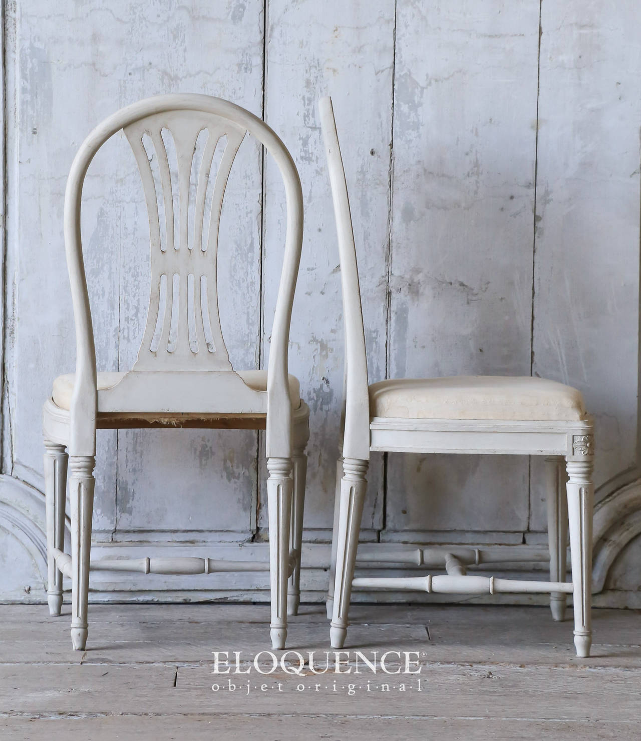 Set of 8 Vintage Gustavian Dining Chairs, circa 1920 4