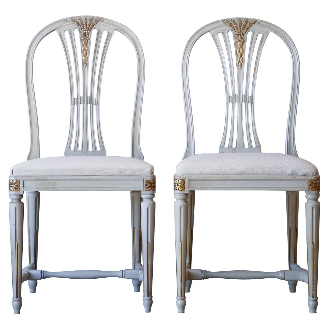 Set Of 6 Vintage Gustavian Dining Chairs, Circa 1920 1