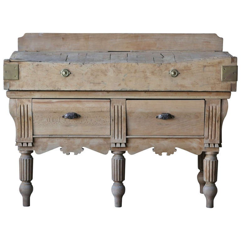 19th century antique butcher s block at 1stdibs