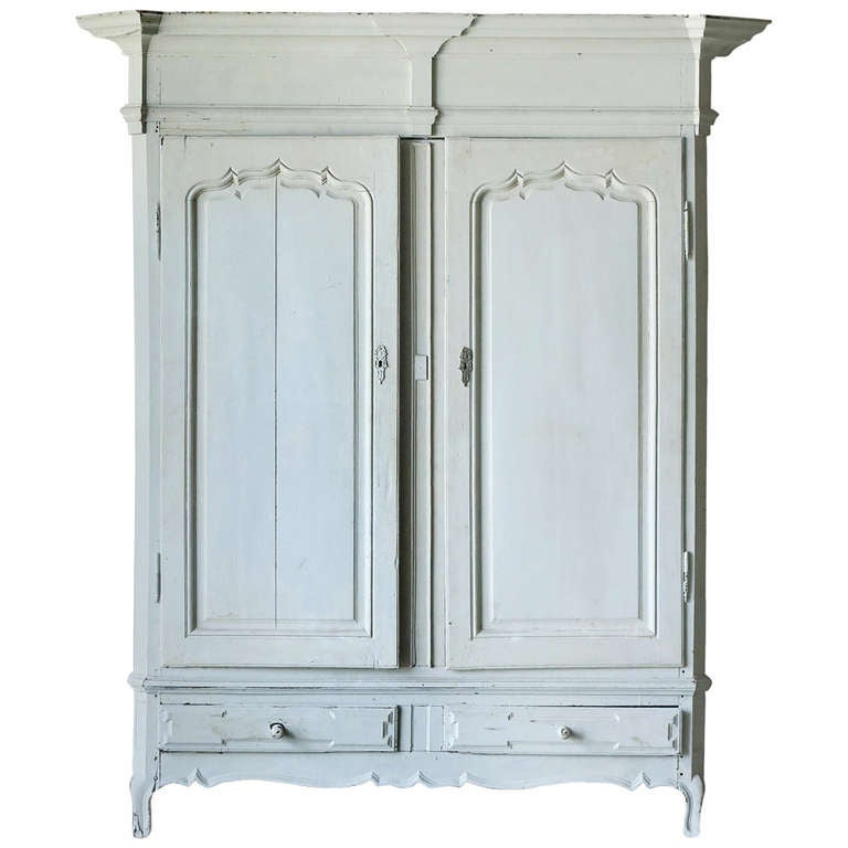 Antique Painted Flemish Armoire At 1stdibs