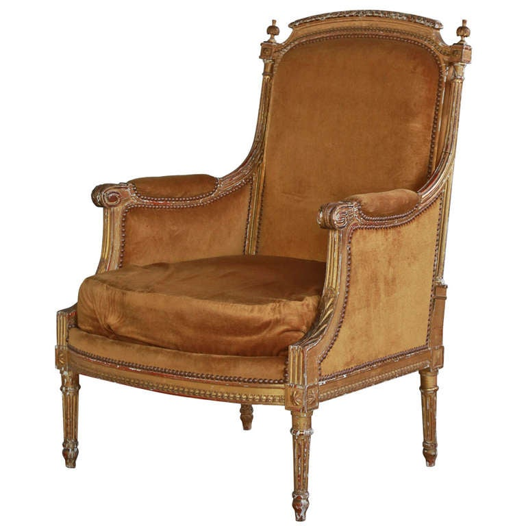 gorgeous antique louis xvi bergere at 1stdibs. Black Bedroom Furniture Sets. Home Design Ideas