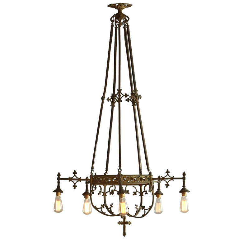 Large Chandeliers Lighting : Large antique cathedral chandelier at stdibs