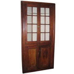 American Pine Corner Cupboard