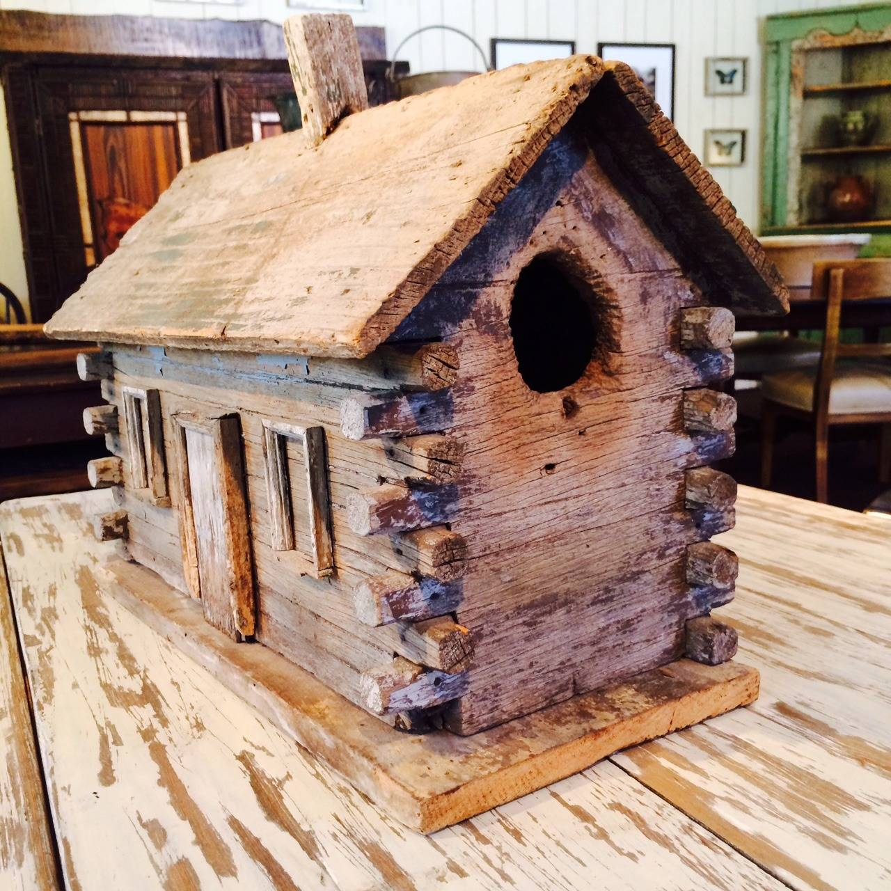 rustic log cabin birdhouses - photo #5