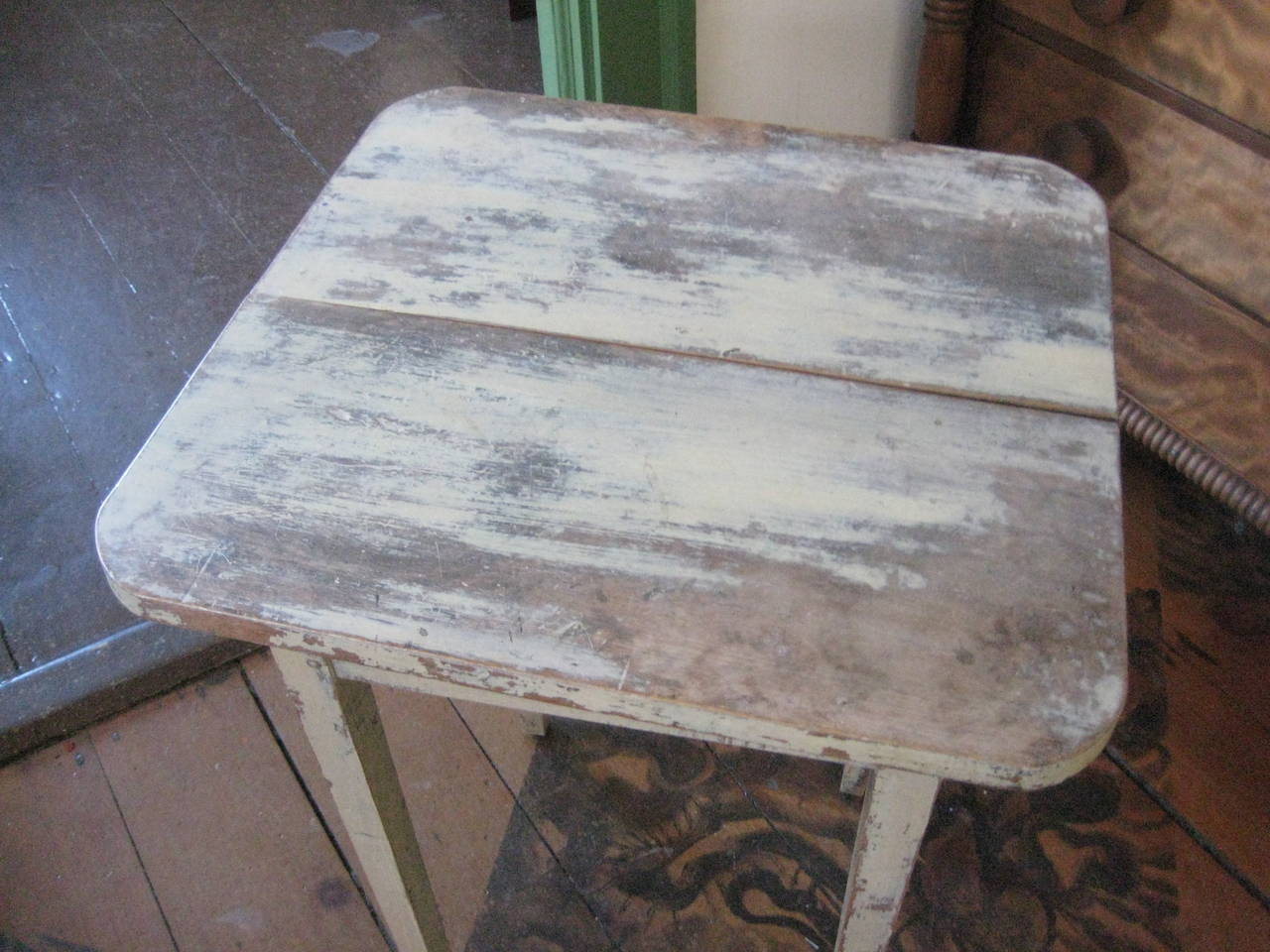 Canadian Painted Side Table For Sale