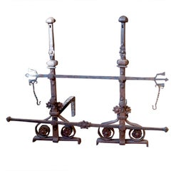 Large Scale Set of Andirons