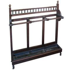 Edwardian Mahogany Stick Stand