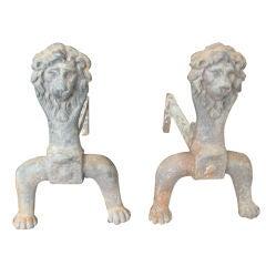 Lion Andirons