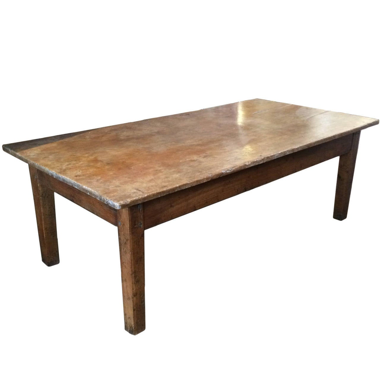 Antique Coffee Table With Pegged Construction At 1stdibs