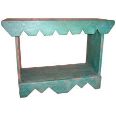 Painted pine two-tier bench