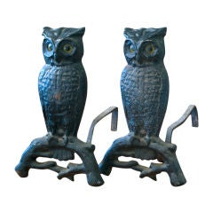 Set of Owl Andirons