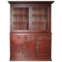 Painted Pine Glazed Cupboard