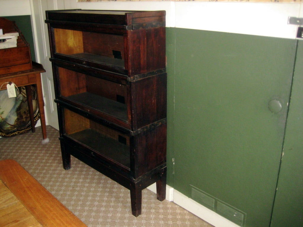 19th Century English Oak Barrister Bookcase