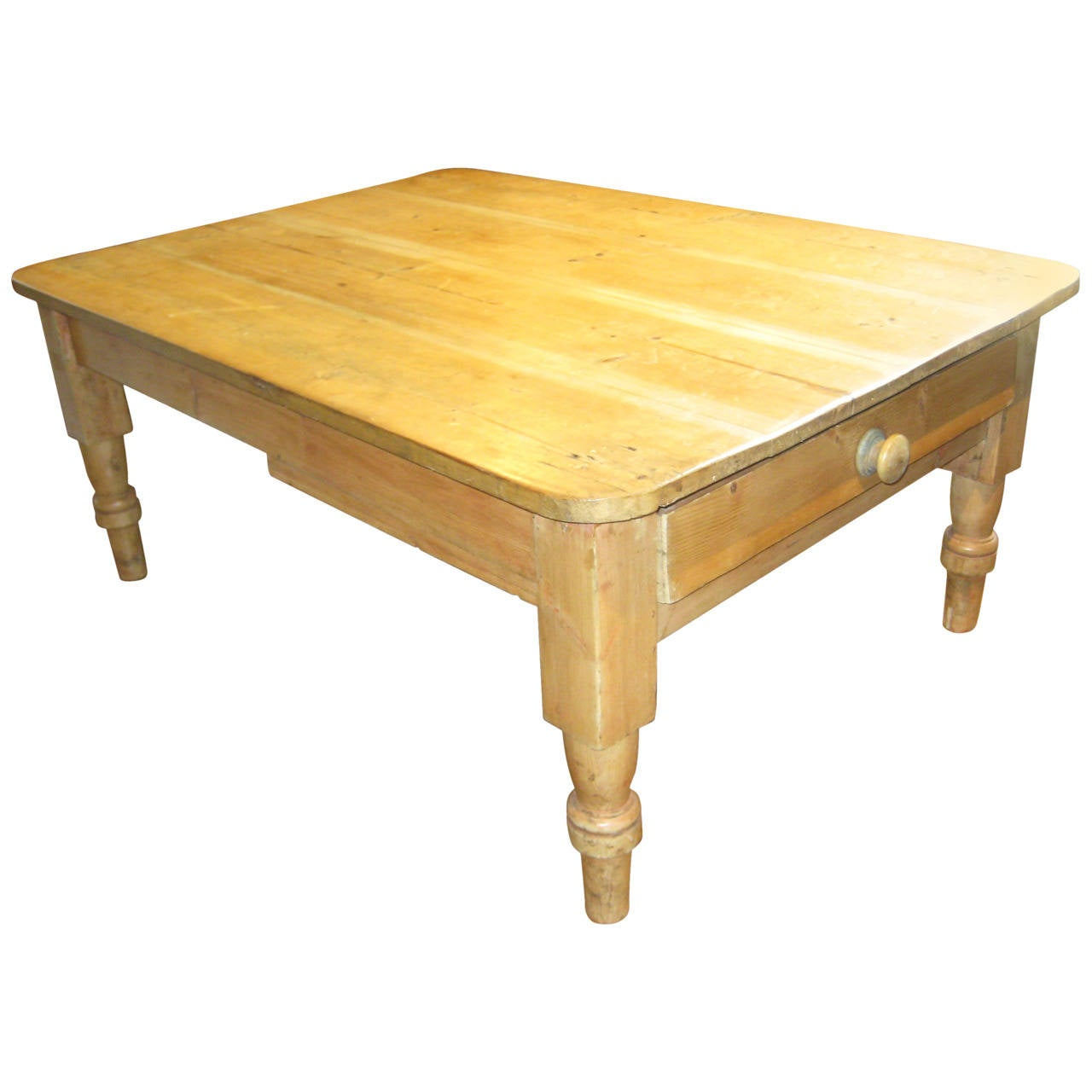 Pine coffee table for sale at stdibs