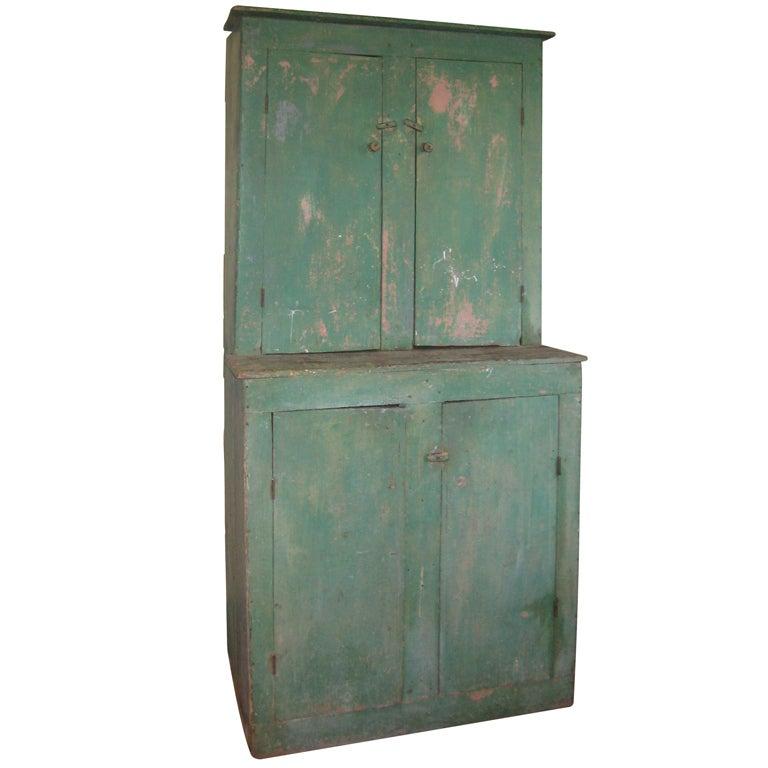 Step back cupboard - Antique Step-Back Hutch Cupboard For Sale At 1stdibs