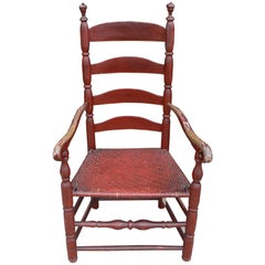 Red Ladder-Back Chair
