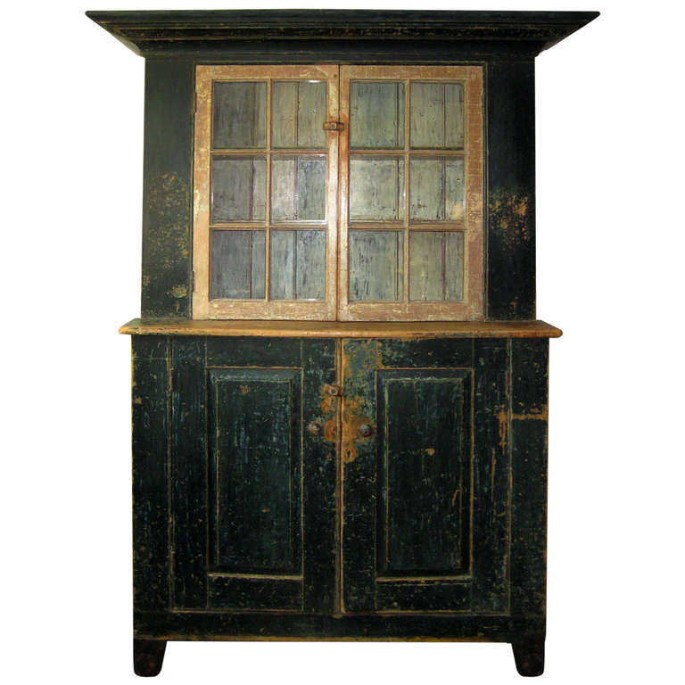 Green Painted Cupboard