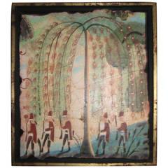 """Five Mercenaries Marching"" Pigment on Styrene on Plaster by Kevin Paulsen"