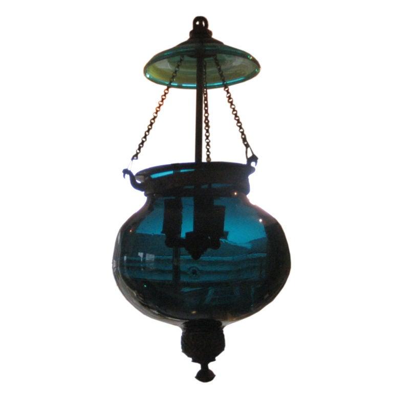 Blue Hanging Bell Jar At 1stdibs