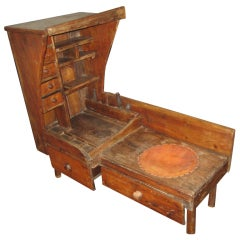 Bench pine bench with bootjack ends pine settle captain s chair