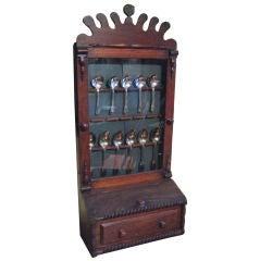 Irish Folk Art Spoon Rack