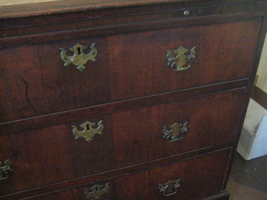 18th Century and Earlier English Inlaid Walnut Chest of Drawers For Sale